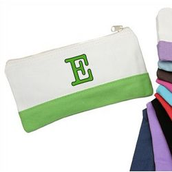 Personalized Colorblock Cosmetic Bag
