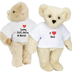 Personalzied I Heart Dad Teddy Bear