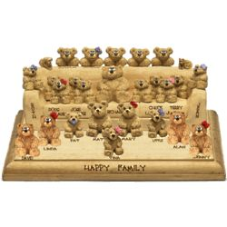 Personalized Huge Family Sofa with 25 to 30 Named Bears