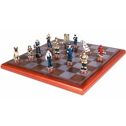 Police and Firemen Chess Set
