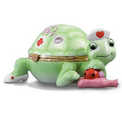 Nurse Tribute Turtle Porcelain Music Box