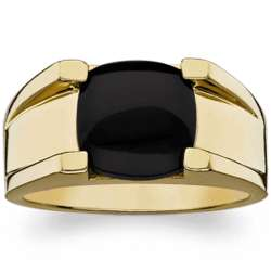 Men's 14k Gold Over Sterling Black Onyx Ring