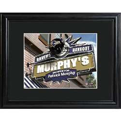 Baltimore Ravens Personalized Tavern Sign Print with Matted Frame