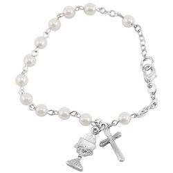Pearl Bead Communion Bracelet