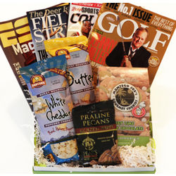 Sports Enthusiast Magazine Gift Basket