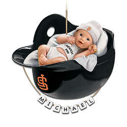 San Francisco Giants Personalized Baby's First Christmas Ornament