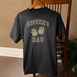 Personalized Pet Owner Black T-Shirt