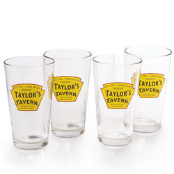 Personalized Tavern Set of Four Glasses
