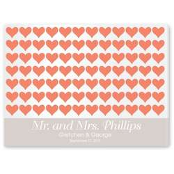 For the Love of Hearts Signature Guest Book Canvas