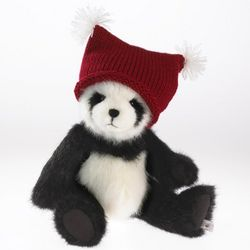 Cody the Panda in Knit Hat Decoration