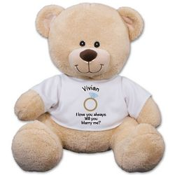 Personalized Will You Marry Me Teddy Bear