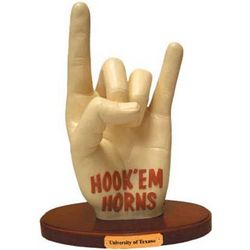 Texas Longhorns Hook 'Em Horns Logo Sculpture