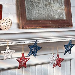 Red, White and Blue Star Garland