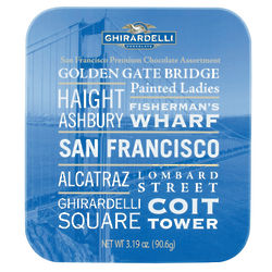 San Francisco Attractions Postcard Tin of Chocolates