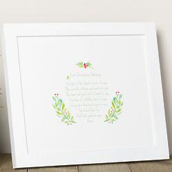 Irish Christmas Blessing Framed Print