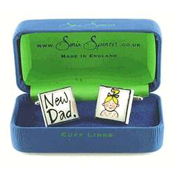 New Dad with Girl Cufflinks