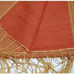 Orange Two Tone Reversible Pashmina Wrap