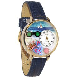 Flip-flops Whimsical Watch in Large Gold Case