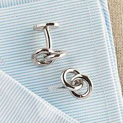 Sterling Eternity Rings Cuff Links
