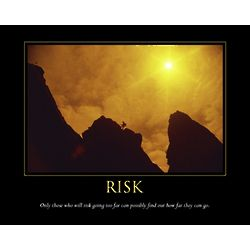Risk Inspirational Personalized Print