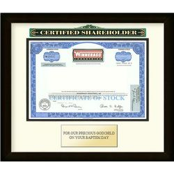 Framed Winnebago Stock Certificate