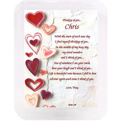 Hearts Musical Frame and Personalized Poem