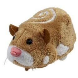 Mr. Squiggles Hamster Toy in Light Brown