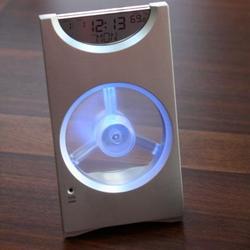 Desktop Fan and Clock