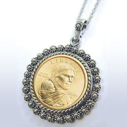 Sacagawea Dollar Pendant
