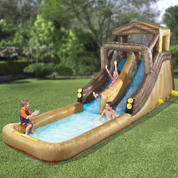 Inflatable Backyard Log Flume