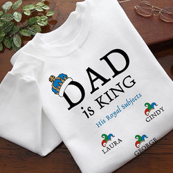 Personalized Dad Is King Sweatshirt
