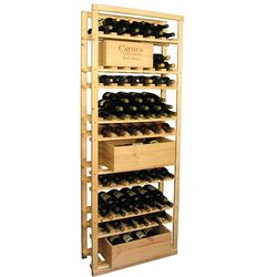 Wood 90 Bottle Baker Style Bottle & Case Wine Cellar Storage Rack