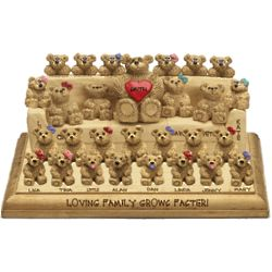 Personalized Large Bear on Sofa with Family Bears Plaque