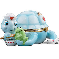 Care Nurse Tribute Turtle Porcelain Music Box