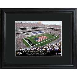 Baltimore Ravens Personalized Stadium Print with Matted Frame