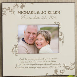 Our Marriage Blessing 5x7 Personalized Wall Photo Frame