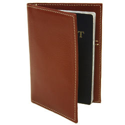Leather Passport Cover with Card Slots