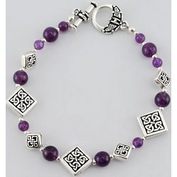 Celtic Toggle Bracelet with Amethyst