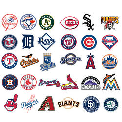 MLB Logo Collection Wall Graphic