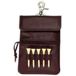 Leather Clip-On Golf Accessory Bag