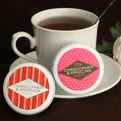 Wedding Tea Disc Personalized Favors