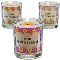 Hibiscus Luau Personalized Votive Holders