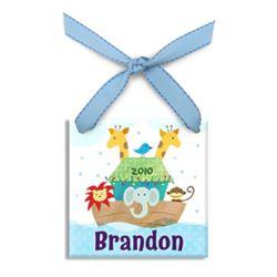 Boy's Personalized Noah's Ark Christmas Ornament