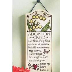 Adoption Creed Plaque