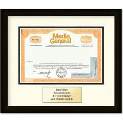 Framed Media General Certificate