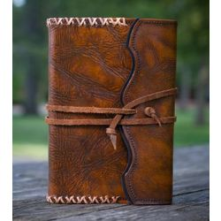 Whipstitch Refillable Journal with Handmade Paper