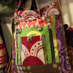 Recycled Batik Fabric Urban Explorer Bag