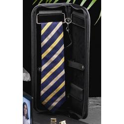 Black Leather Travel Tie Case