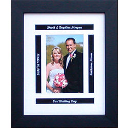 "Personalized 8"" x 10"" Wedding Photo Frame"