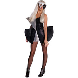 Lady Ga Ga Black Sequin Dress and Mask Costume